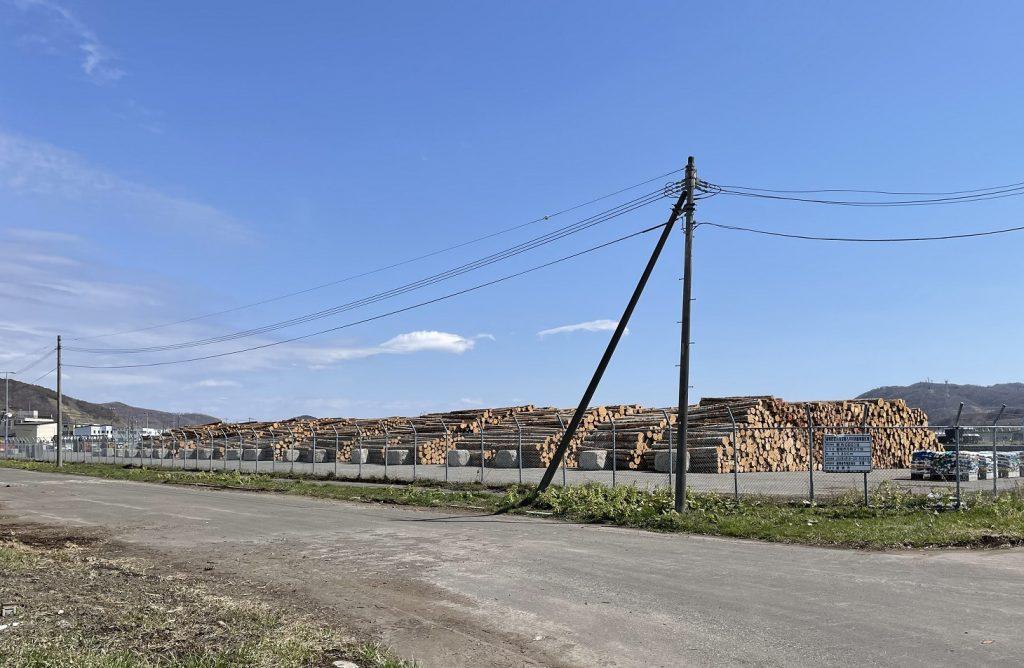 留萌港は日本海側の本州の工場へ木材を運ぶための海運拠点